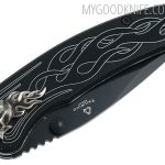 Photo #5 United Cutlery Nova Skull A/O Linerlock Pocket Knife, black  (UC2690)