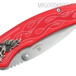Valokuva #5 United Cutlery Nova Skull A/O Linerlock Pocket Knife, red  (UC2691)