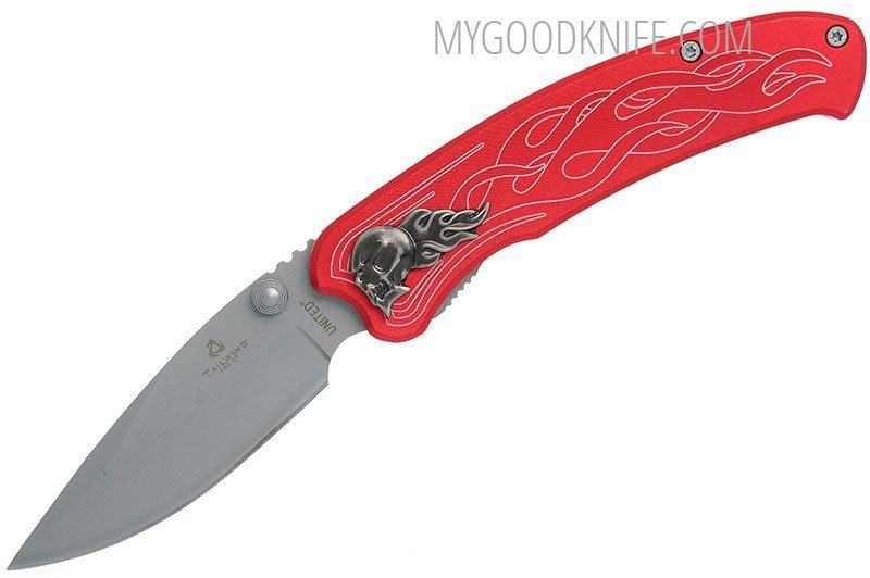 Photo #3 United Cutlery Nova Skull A/O Linerlock Pocket Knife, red  (UC2691)