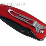 Valokuva #2 United Cutlery Nova Skull A/O Linerlock Pocket Knife, red, serrated  (UC2691S)