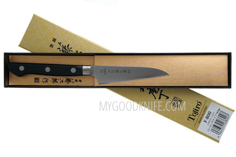 Photo #3 Tojiro DP Cobalt Alloy Steel Series Paring Knife 90mm F-800