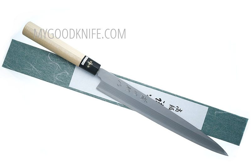 Фотография #1 Tojiro Aogami Damascus Yanagi Нож для сашими, 27 см (F-1021)