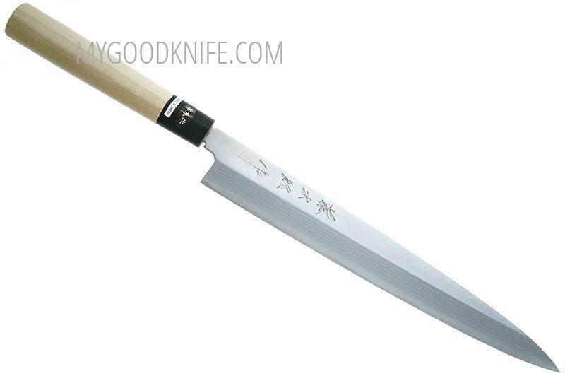 Фотография #3 Tojiro Aogami Damascus Yanagi Нож для сашими, 27 см (F-1021)