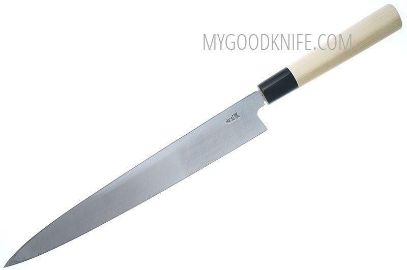 Фотография #4 Tojiro Aogami Damascus Yanagi Нож для сашими, 27 см (F-1021)
