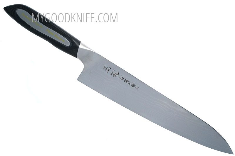 Фотография #1 Tojiro Damascus Flash Поварской нож, 24 см  (FF-CH240)