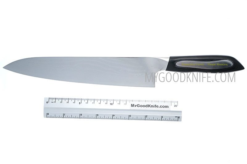 Photo #3 Tojiro Damascus Flash Поварской нож, 24 см  (FF-CH240)