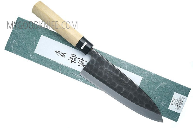 Photo #4 Tojiro Hammered Black  Deba 21 cm (F-1077)