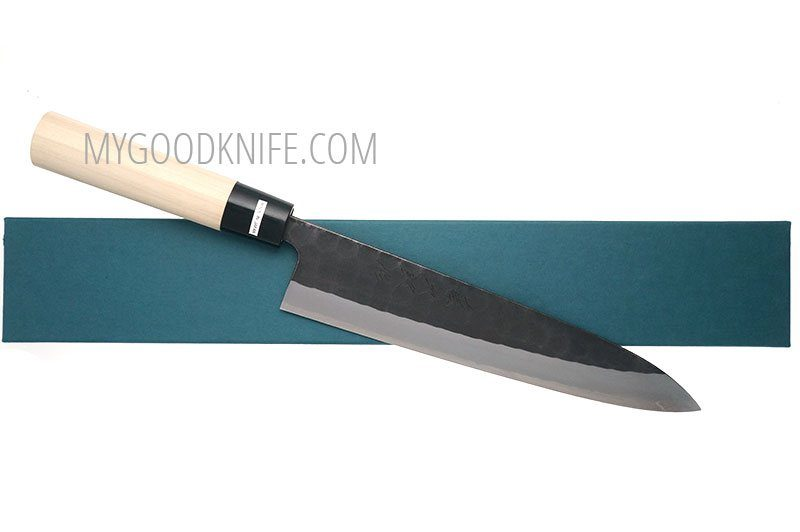 Photo #4 Tojiro Hammered Black Chef Knife (Japanese Style) 21 cm (F-1091)