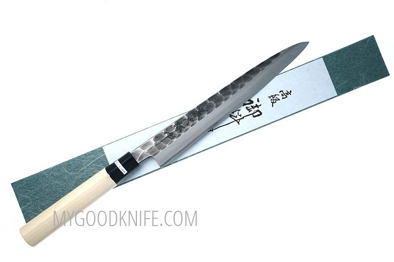 Фотография #1 Tojiro Hammered Black Yanagi Нож для сашими, 21 см (F-1080)