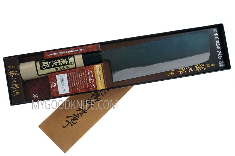 Valokuva #1 Tojiro Shirogami Black Finished Nakiri 16,5 sm (F-699)
