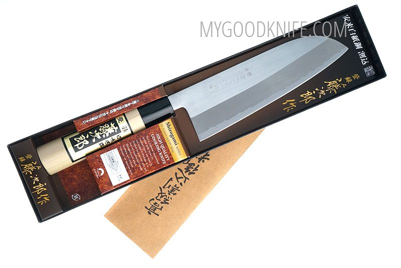 Photo #3 Tojiro Shirogami Grinding Finished Santoku 16,5 sm (F-701A)