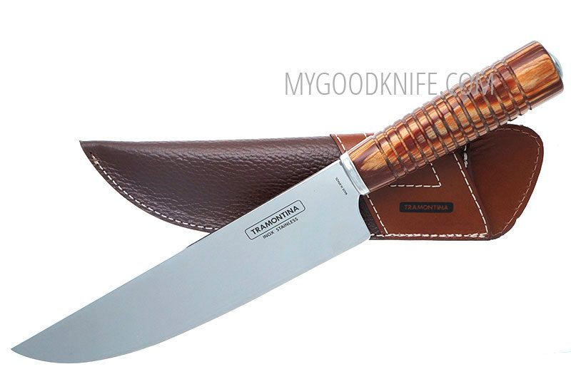 Photo #1 Tramontina Churrasco 8″ Gaucho knife campeira with sheath (21141148)