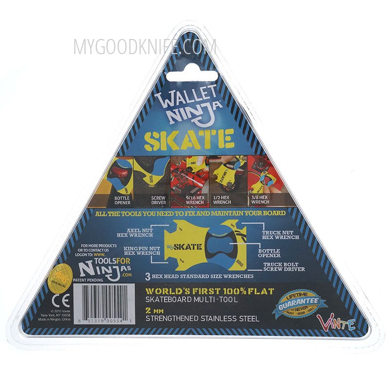 Photo #1 Wallet Ninja Skate Multitool